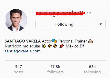 santiago varela Mexican Actor Instagram
