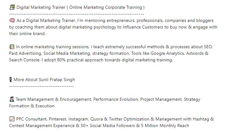 Digital Marketing Trainer's Skills